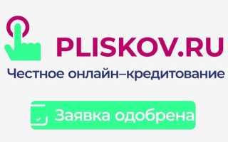 Микрокредит Плисков.ру – регистрация, вход и особенности работы
