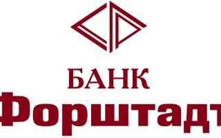 Банк «Форштадт»: регистрация и возможности личного кабинета