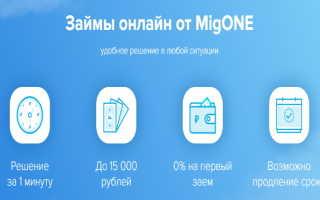 Мгновенная регистрация личного кабинета на сайте MigONE (migone.ru)