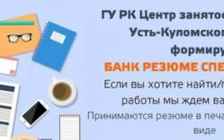 ГУ РК «ЦЗН Усть-Куломского района»: регистрация и функции личного кабинета
