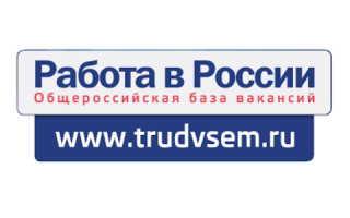 Личный кабинет на сайте Работа России – поиск вакансий, размещение резюме, учет безработных