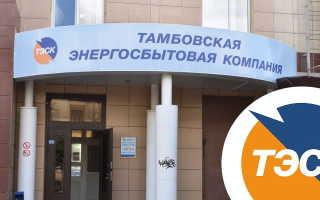 Личный кабинет Тамбовской энергосбытовой компании для физических и юридических лиц