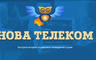 Управления услугами в личном кабинете Нова Телеком