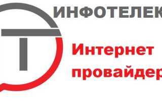 Инфотелеком – регистрация личного кабинета абонента, вход в ЛК