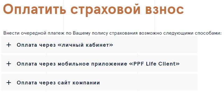 ППФ страхование жизни
