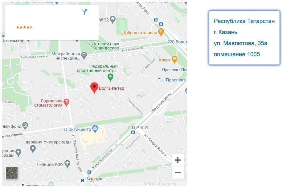 Координаты Волга Интер
