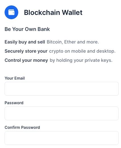 Регистрация в Биткоин-кошелек