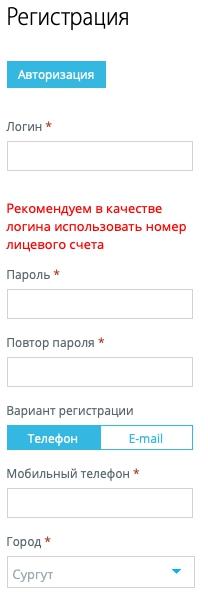 Регистрация в ЮРИЦ