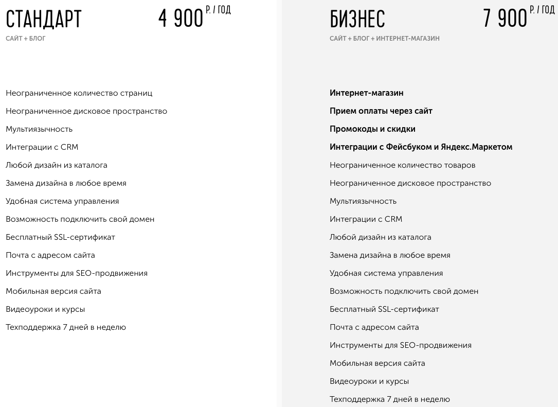 Тарифы vigbo.ru