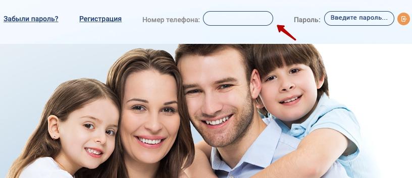 Кнопка входа Интер РАО