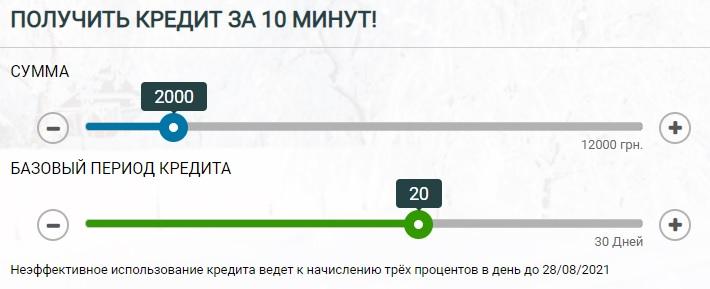 Алекс Кредит калькулятор