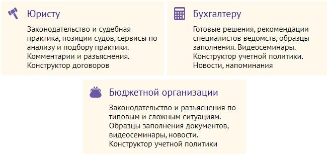 КонсультантПлюс услуги