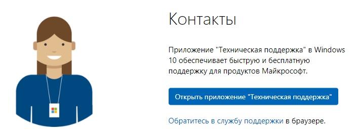 Майкрософт контакты