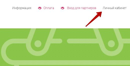 Кнопка личный кабинет на сайте AmmoPay