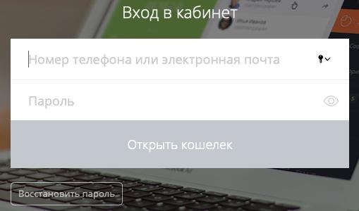Регистрация и вход Единый кошелек