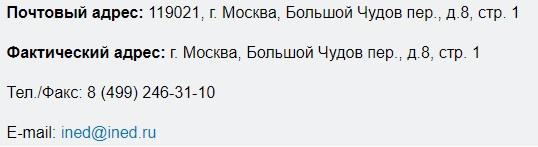 ined.ru контакты